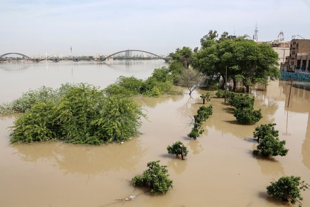 Floods in Ahvaz, the capital of Iran's southwestern province of Khuzestan.