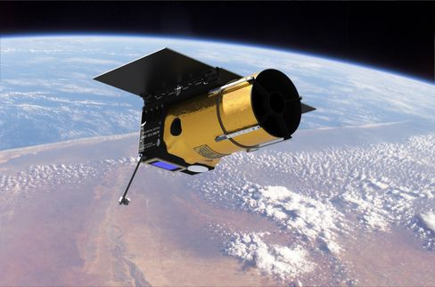Planetary Resources' prospector spacecraft in low earth orbit