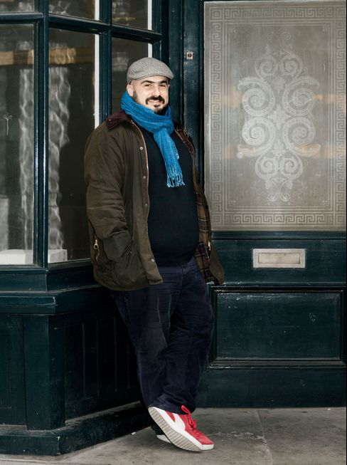 Santander InnoVentures' Mariano Belinky poses near his office in London's Shoreditch area.