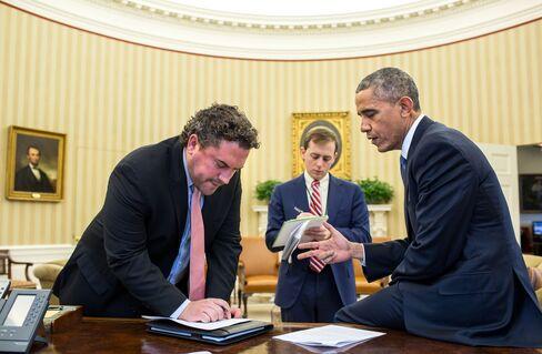 President Barack Obama works on his immigration speech w