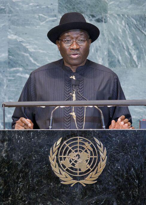 Nigeria's sresident  Goodluck Jonathan