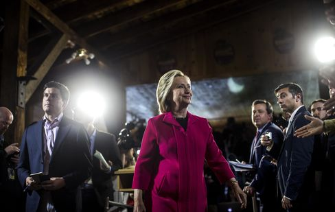 Former Secretary State Hillary Clinton Campaign in New Hampshire