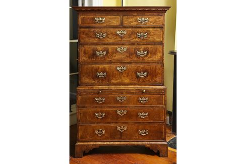 A George II Chest on Chest at Philip Colleck in New York, priced at $68,000. Twenty years ago it would have cost around $88,000.