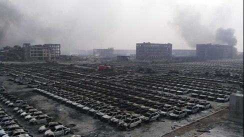Damaged Vehicles at Tianjin