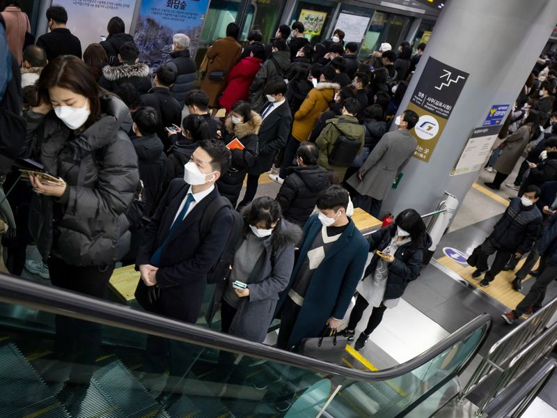 Reactions In Seoul As South Korea Confirms 161 New Virus Cases