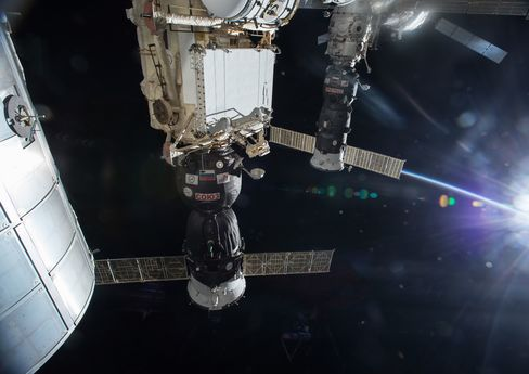 Progress 47, a Russian spacecraft similar to one that malfunctioned, is shown before its April 25, 2015, departure from the International Space Station.