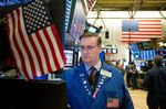 Trading On The Floor Of The NYSE As Tech, Oil Bear Market Drop U.S. Stocks