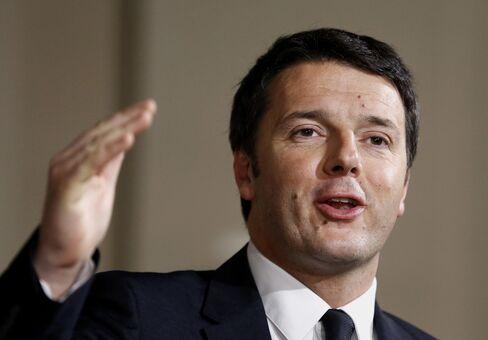 Italian Prime Minsiter Matteo Renzi