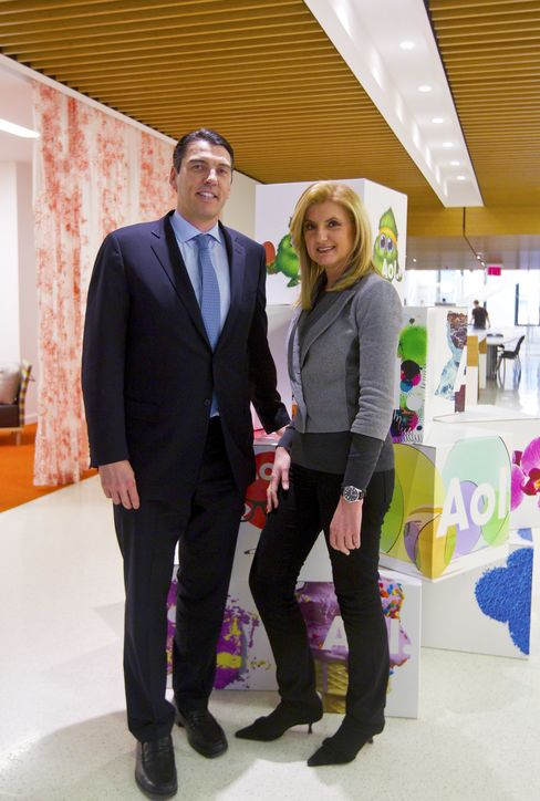 Tim Armstrong and Arianna Huffington