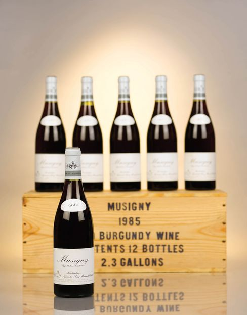 A 12-bottle lot of Musigny Maison Leroy 1985