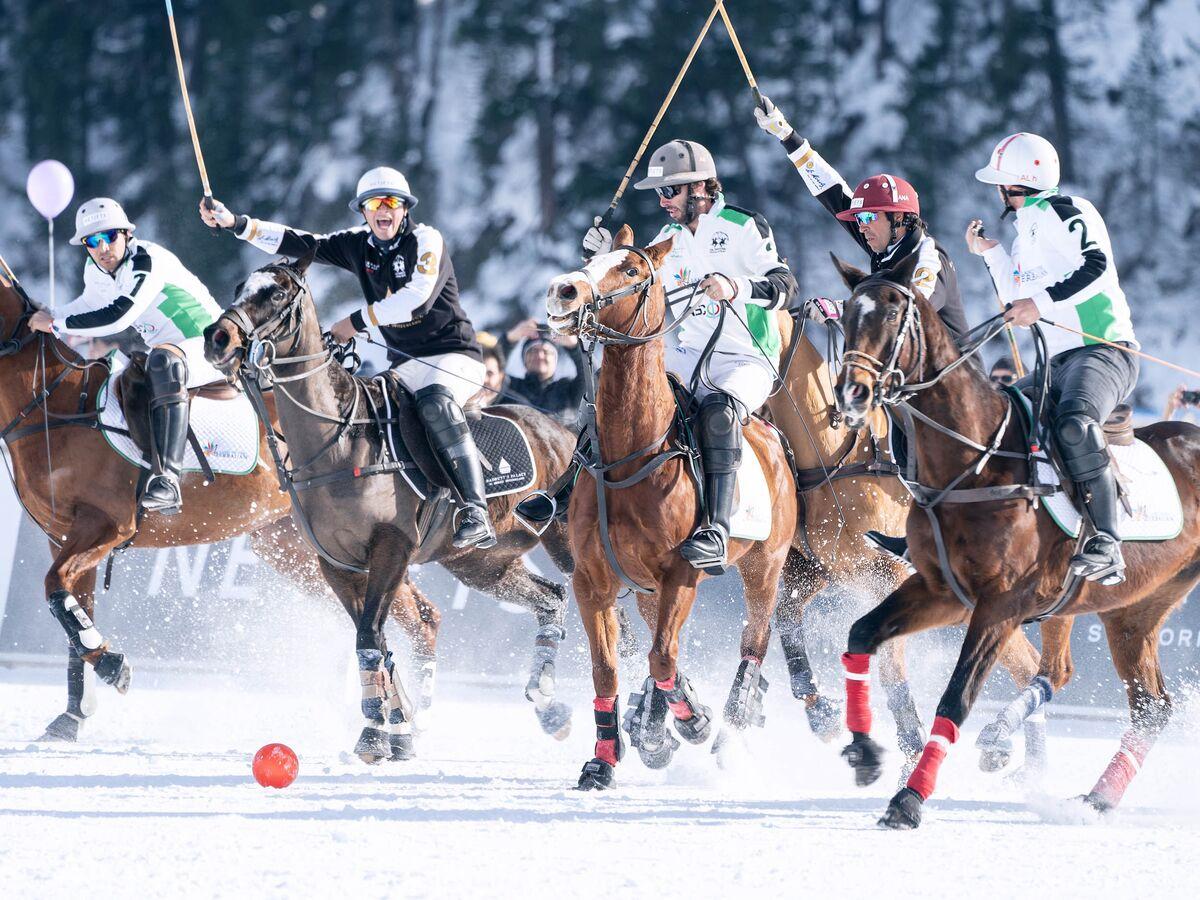 Champagne! Fur! Caviar! St. Moritz's Snow Polo Lures the Jet Set