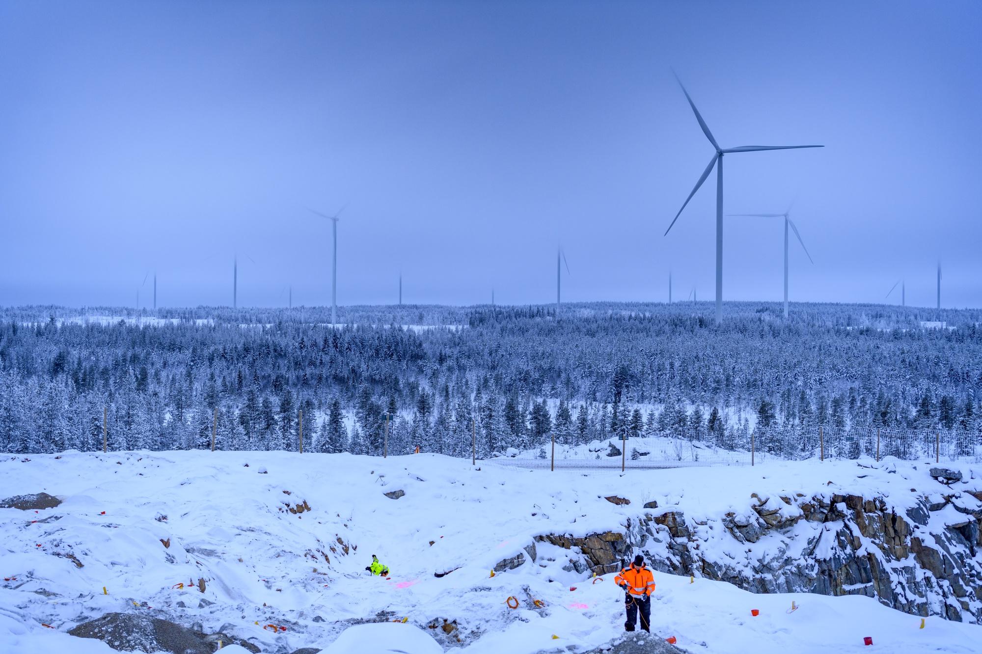 The Markbygden ETT wind park project near Pitea, Sweden.