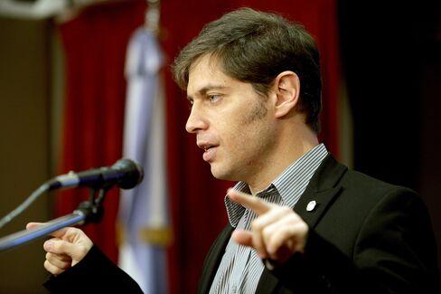Argentina's Economy Minister Axel Kicillof