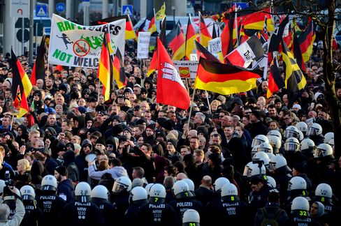 Right-Wing Groups Rally Following Cologne Sex Attacks