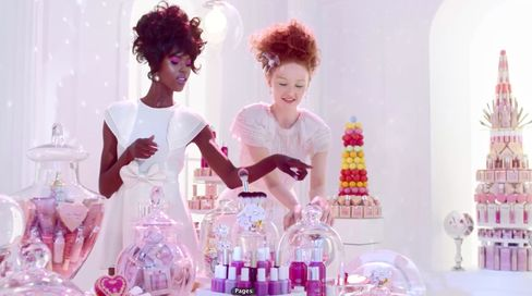From Ulta's first ever national ad campaign, which is dominated by fun, bright colors.