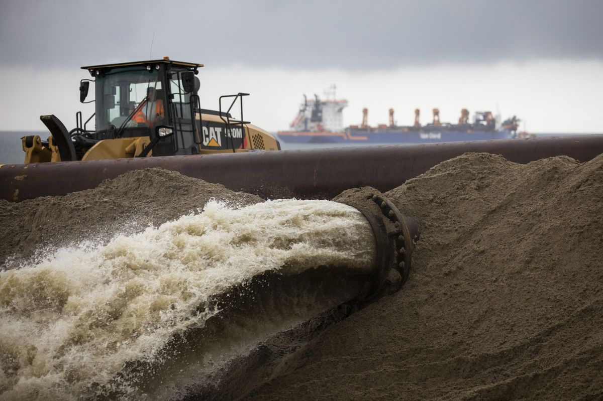 Can Millions of Tons of Sand Save a Gas Terminal From the Sea?