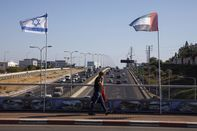Israeli And U.A.E. Flags Side by Side as Peace Moves Intensify