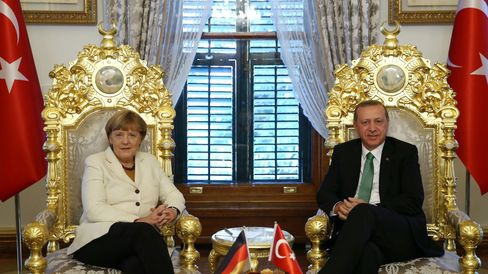 German Chancellor Merkel - Turkish President Erdogan in Istanbul