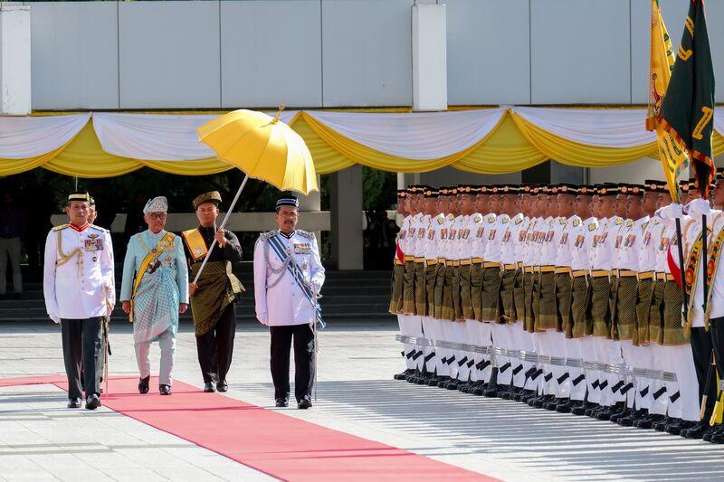 马来西亚冠军彭亨统治者作为传统仪式的新王