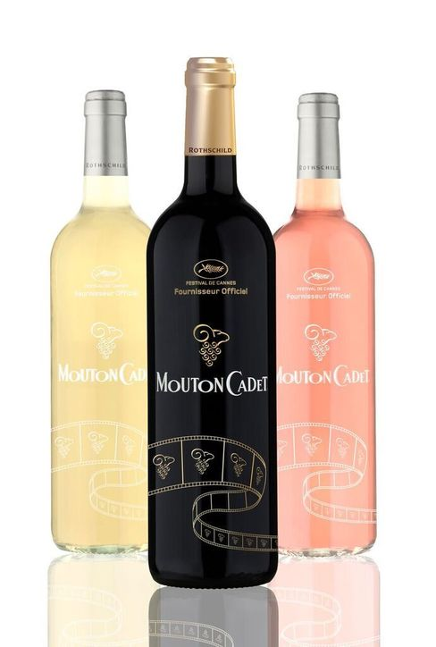 Mouton Cadet limited edition wines for the Cannes Film Festival.