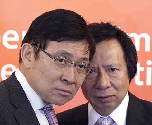 Sun Hung Kai Properties Chairmen Thomas Kwok and Raymond Kwok