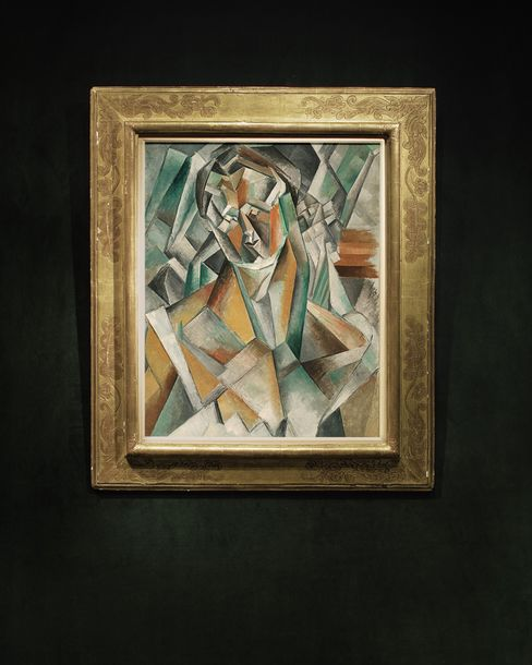 """Picasso's """"Femme Assise"""" 1909."""