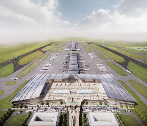 "The report said Gatwick's proposed second runway (illustrated above) was ""credible"" but had weaknesses"