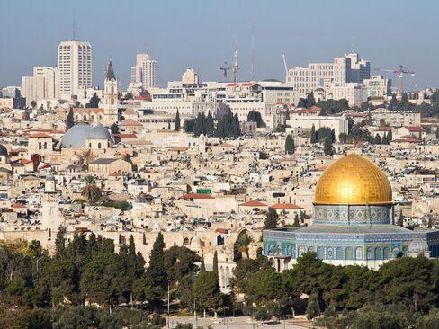 The Jerusalem skyline.