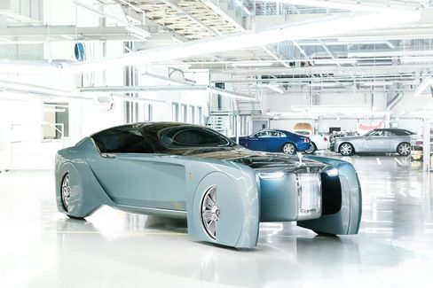 Rolls-Royce introduced the Vision Next 100 to press and VIPs in London.