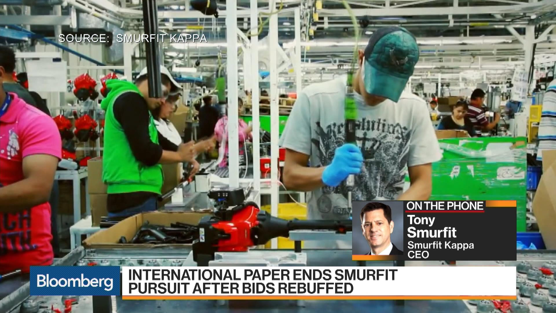 Smurfit CEO Says Company Seeks Acquisitions After IP Bid