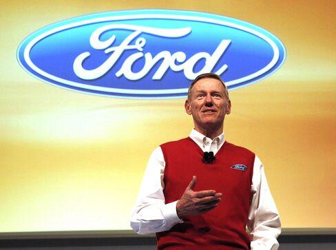 Ford Motor CEO Alan Mulally