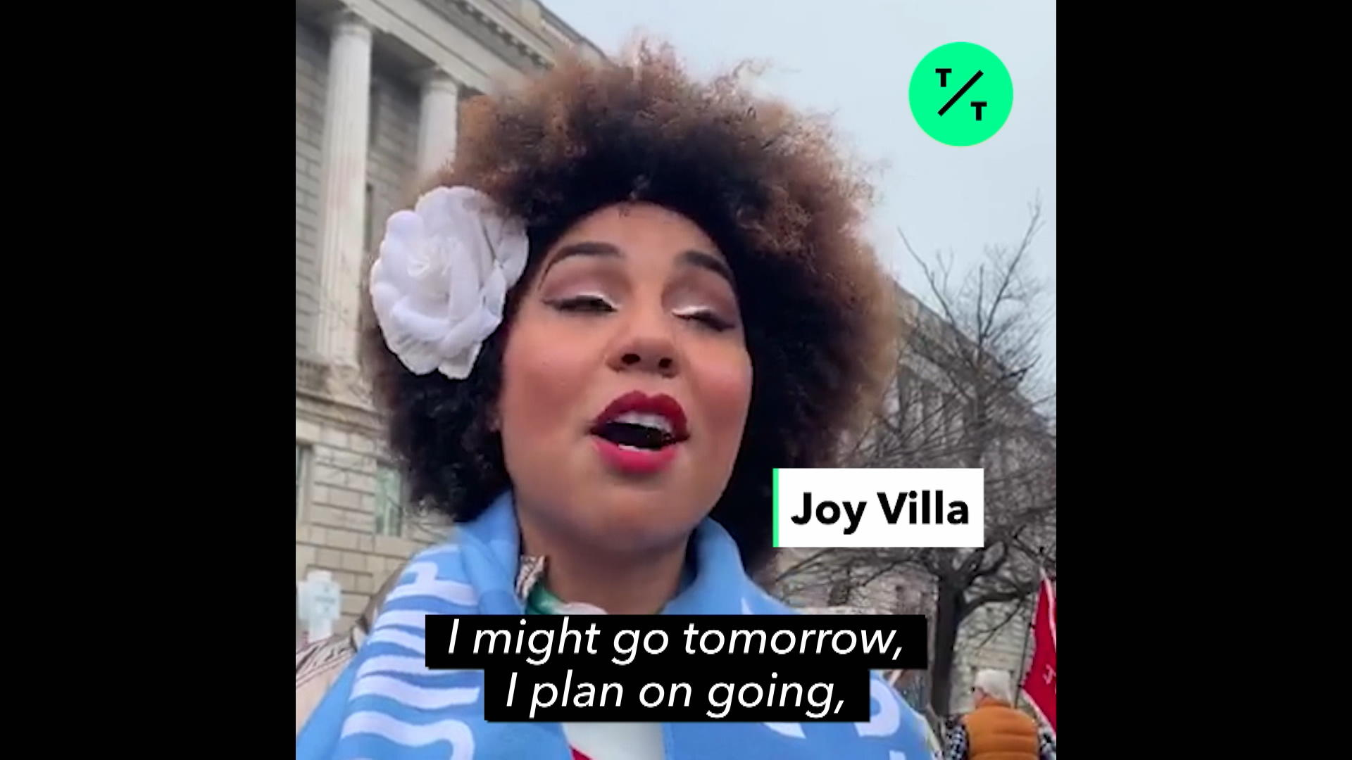 Joy Villa Talks The Women's March