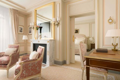 A suite in the newly redone Ritz Paris.