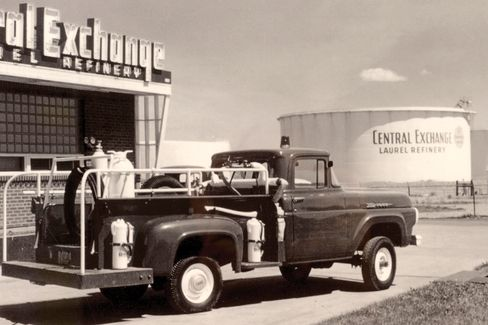 One of the co-op's fuel refineries inthe 1950s.