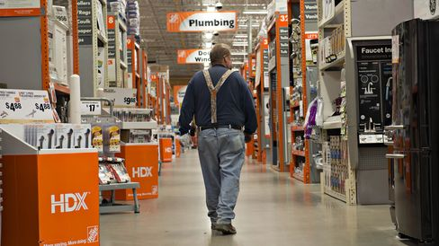 Shopping at a Home Depot Store