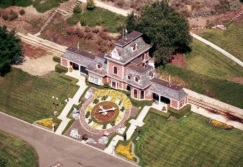 The amusement park and zoo may be no more, but the Neverland Valley Ranch train station endures.