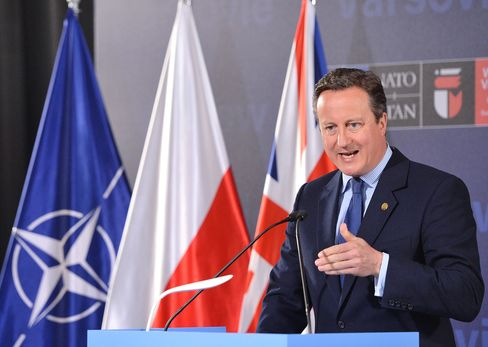 David Cameron at the Nato summit in Warsaw on June 9.