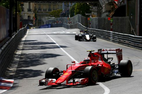 Kimi Raikkonen of Finland and Ferrari drives during the Monaco Formula One Grand Prix at Circuit de Monaco last year. This year, teams from Red Bull Racing and Mercedes are expected to do well.