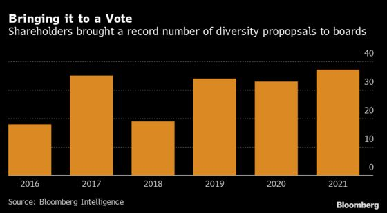 Shareholders Score Records on Corporate Diversity Push in 2021