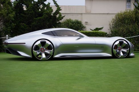 The Mercedes-Benz AMG Vision Gran Turismo at the 2014 Pebble Beach Concours d'Elegance.