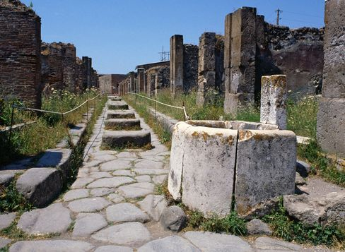 The 'Street of Fortune' in Pompeii.
