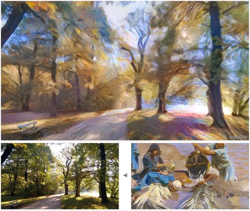 A real landscape looks like a painting after going through Style Transfer.