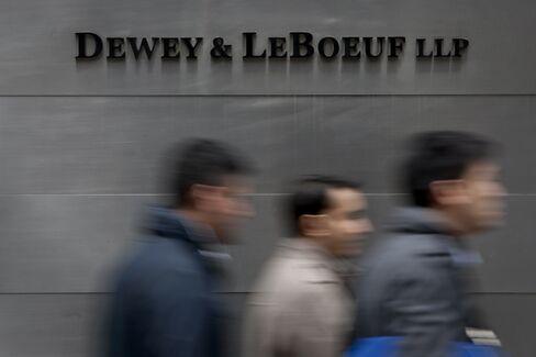 Pedestrians Pass The Dewey & LeBoeuf LLP Headquarters