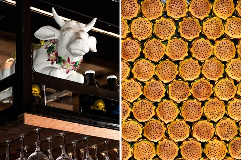 The restaurant, which orders whole cows from a farm in upstate New York, features a distinctly bovine theme.