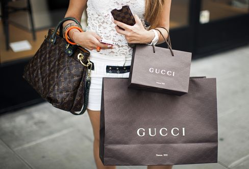 Bags bearing Gucci's trademark were being sold on an Alibaba site by a vendor for as little as $2 apiece