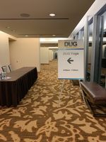 Sign for the inaugural yoga class at Hart Energy's DUG Permian Basin conference.