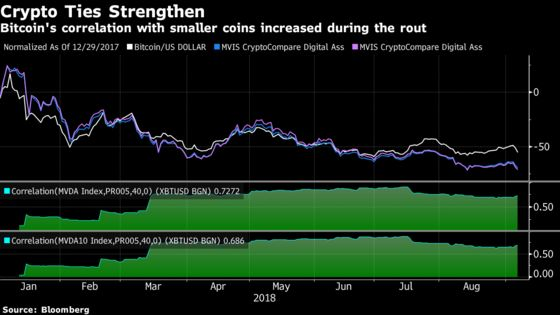 Nowhere to Hide In Crypto as Digital Asset Ties Tighten in Slump