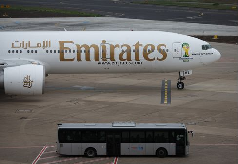 FIFA World Cup Logo Sits On An Emirates Aircraft