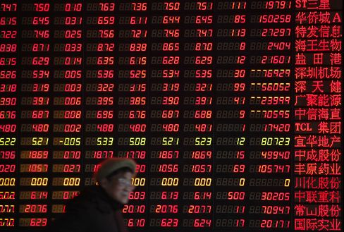 China's Stocks Rise After Inflation Slows More Than Estimated