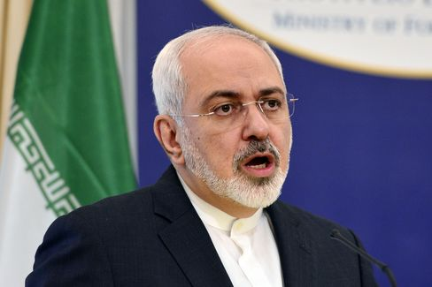 Iranian Foreign Minister Mohammad Javad Zarif. Photographer: Louisa Gouliamaki/AFP via Getty Images